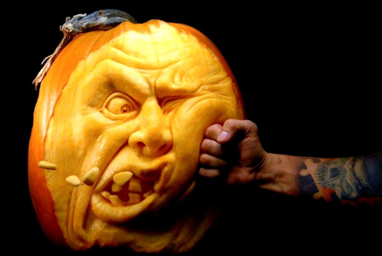 decoration Funny Halloween Pumpkin Faces
