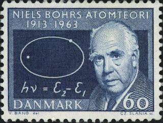 Sello danés Niels Bohr