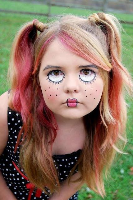maquillaje de muñeca mala