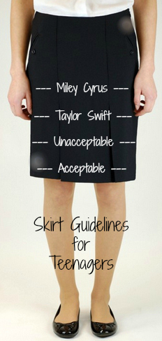 skirt guidelines for teenagers