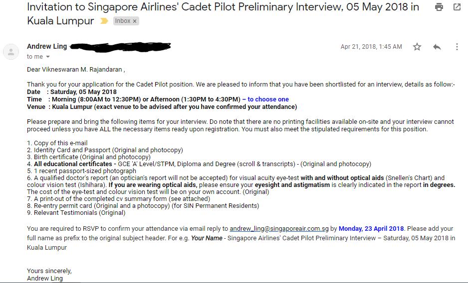 Malaysian Aviation Flyerz Sia Cadet Pilot Preliminary Interview