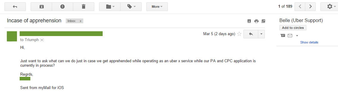 can i operate in Uber Philippines while my pa is still in process?