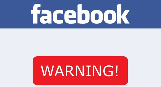 what is a facebook warning