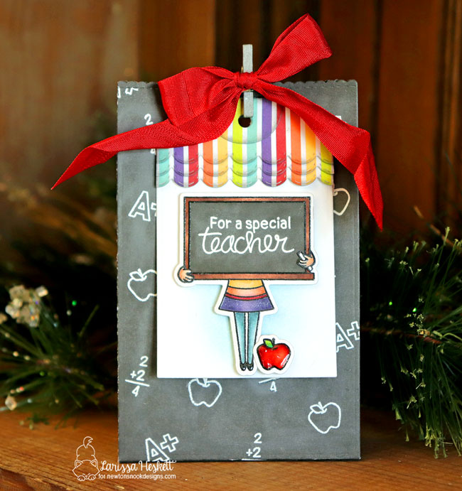 Teacher treat bag by Larissa Heskett | Classy Teachers Stamp Set by Newton's Nook Designs #newtonsnook #handmade #teachercards