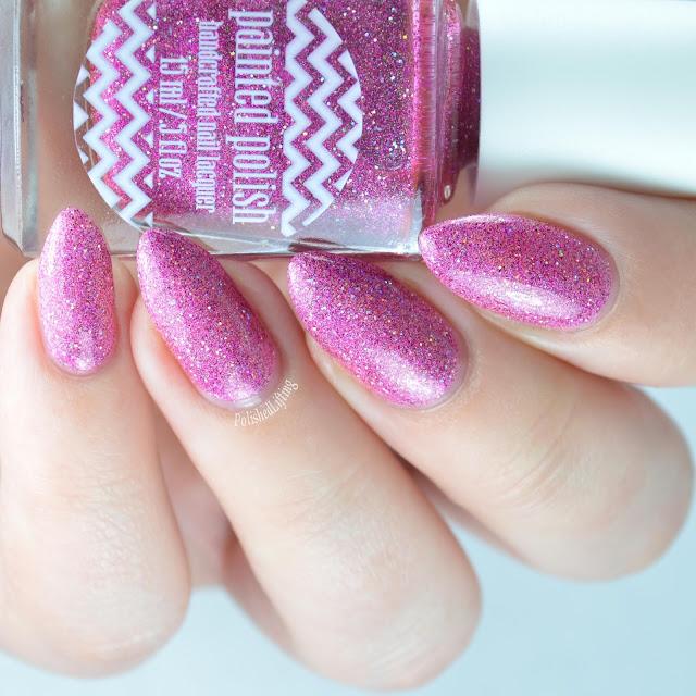 holographic pink nail polish