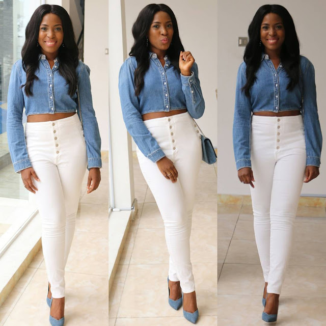 477e5546a4f5d Blogger Linda Ikeji shared this picture of her looking stylish in this  outfit