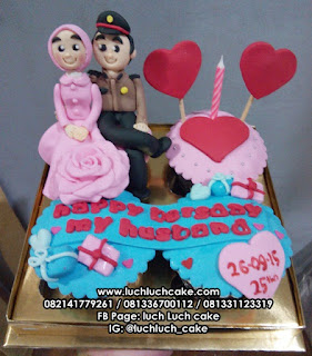Cupcake Tema Couple Polisi Romantis