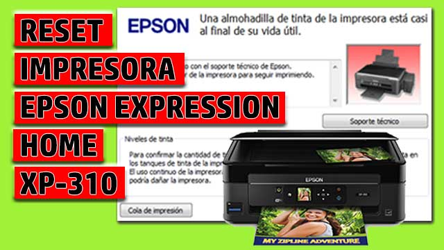 Reset impresora EPSON Expression Home XP-310