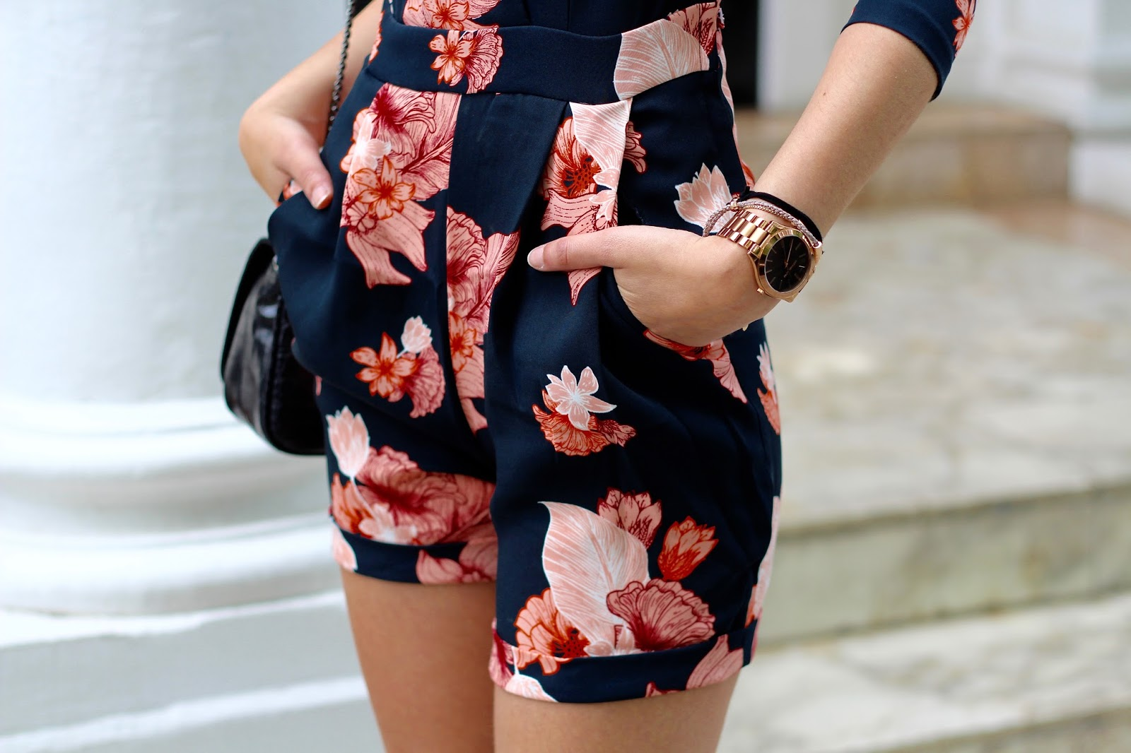 floral playsuit h&m