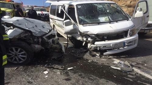 حادث تصادم على كوبرى اكتوبر ووقوع اصابات