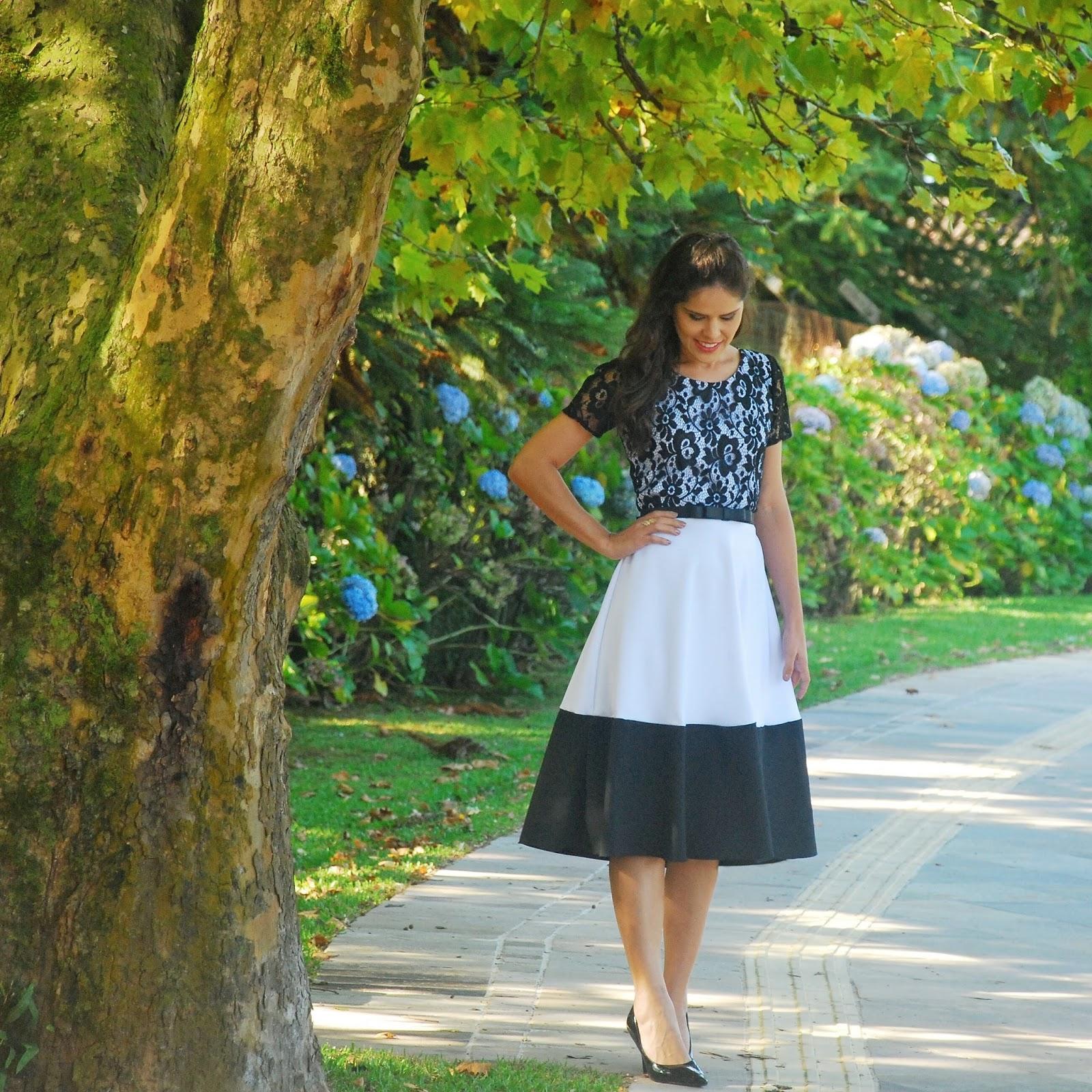 Saia Midi de Cerejinhas da Midi Modas -blog estilo modas e manias
