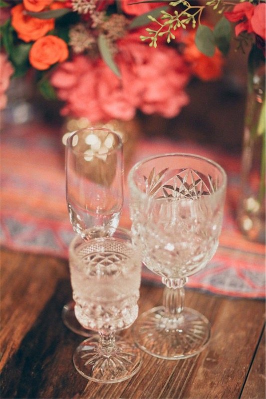 antiguas copas de cristal tallado chicanddeco
