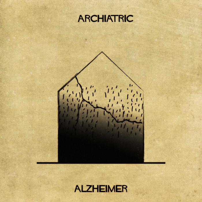 09-Alzheimer-Federico-Babina-ARCHIATRIC-Mental-Health-Illustrations-Paired-with-Architecture-www-designstack-co