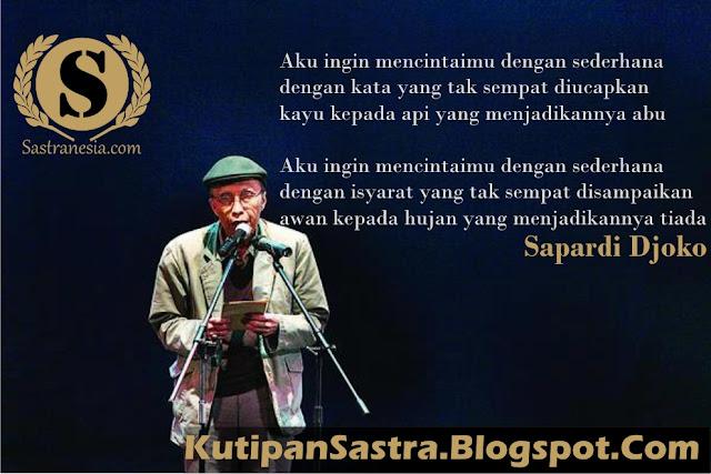 Biografi Singkat Sapardi Djoko Damono Sastranesia