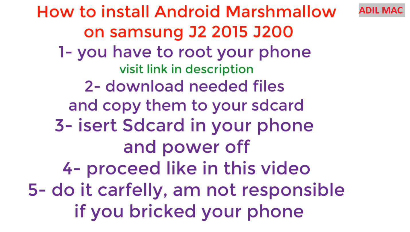 How to install Android 6 0 1 Marshmallow on samsung J2 J200F