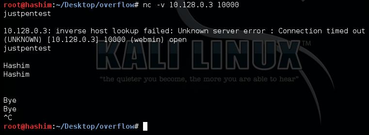 EchoServer (Strcpy) bufferoverflow Securitytube Exploit
