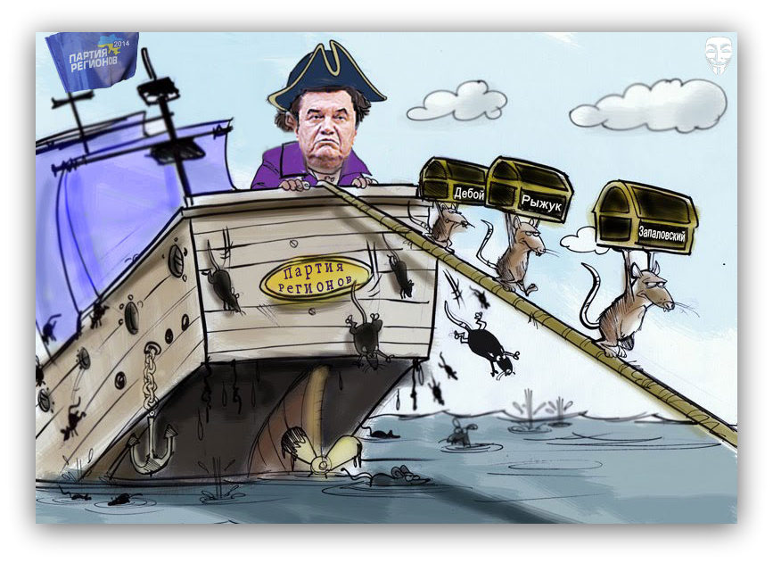 Открытка крысы с корабля