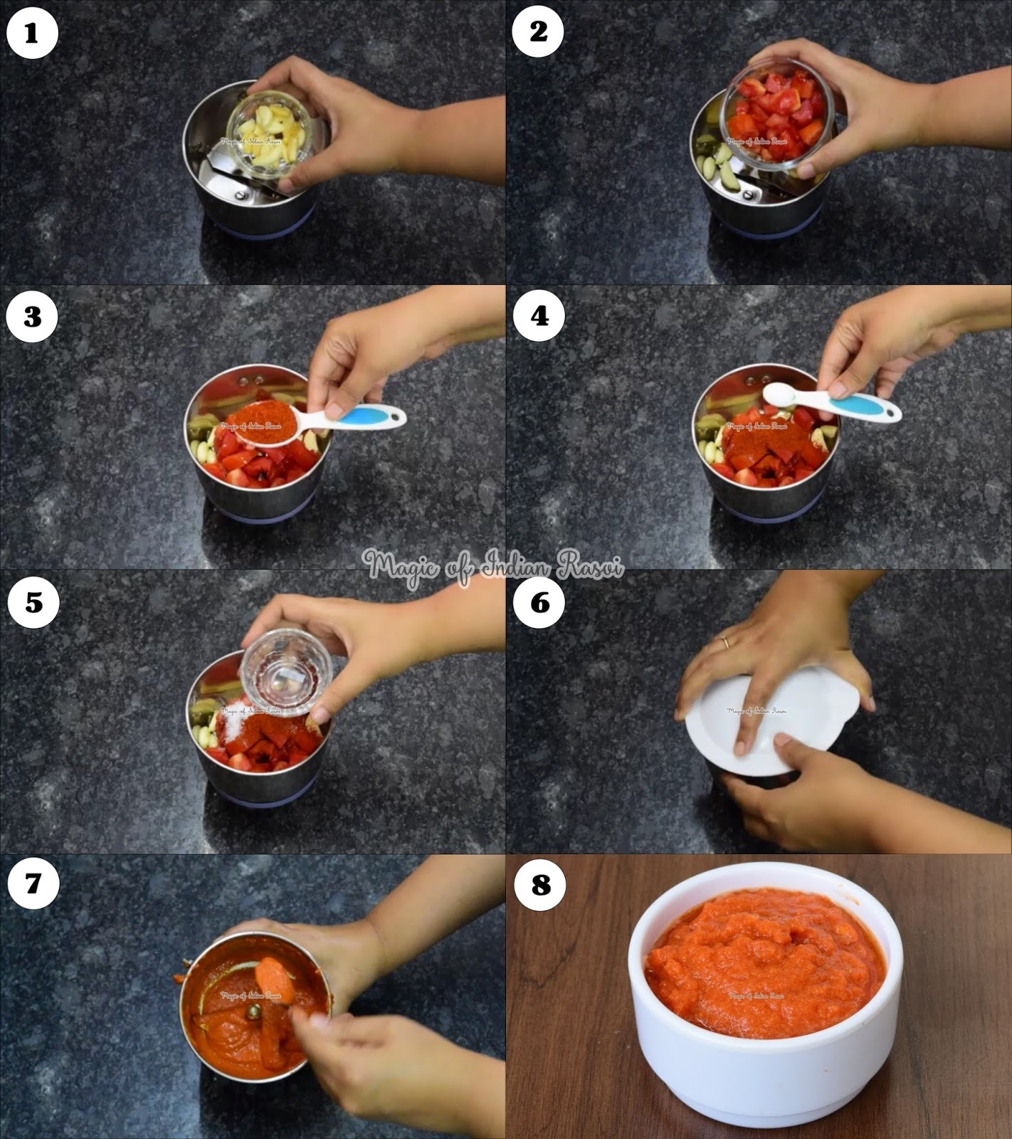Garlic Chutney Recipe - Lahsun Chutney for Chaat - लहसुन चटनी रेसिपी - चाट के लिए लहसुन की चटनी - Priya R - Magic of Indian Rasoi