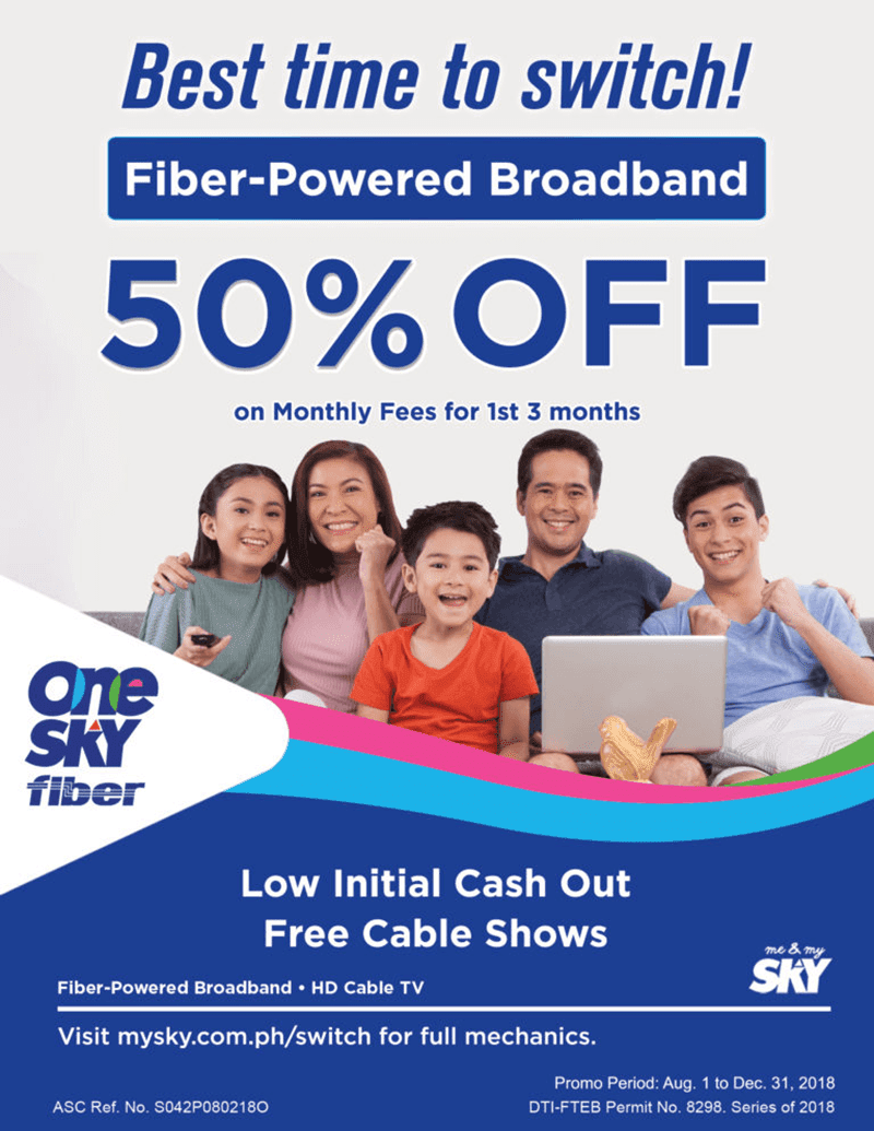 SKY now offers discounted fiber broadband in select areas in PH