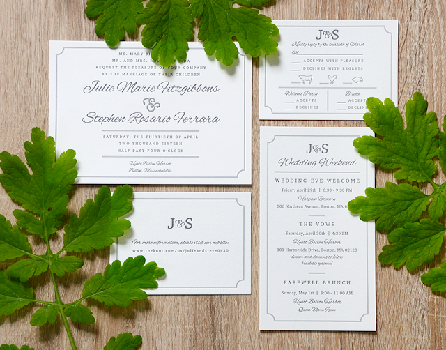 Classic Wedding Invitations With A Hint of Nautical Charm /// By Design Fixation