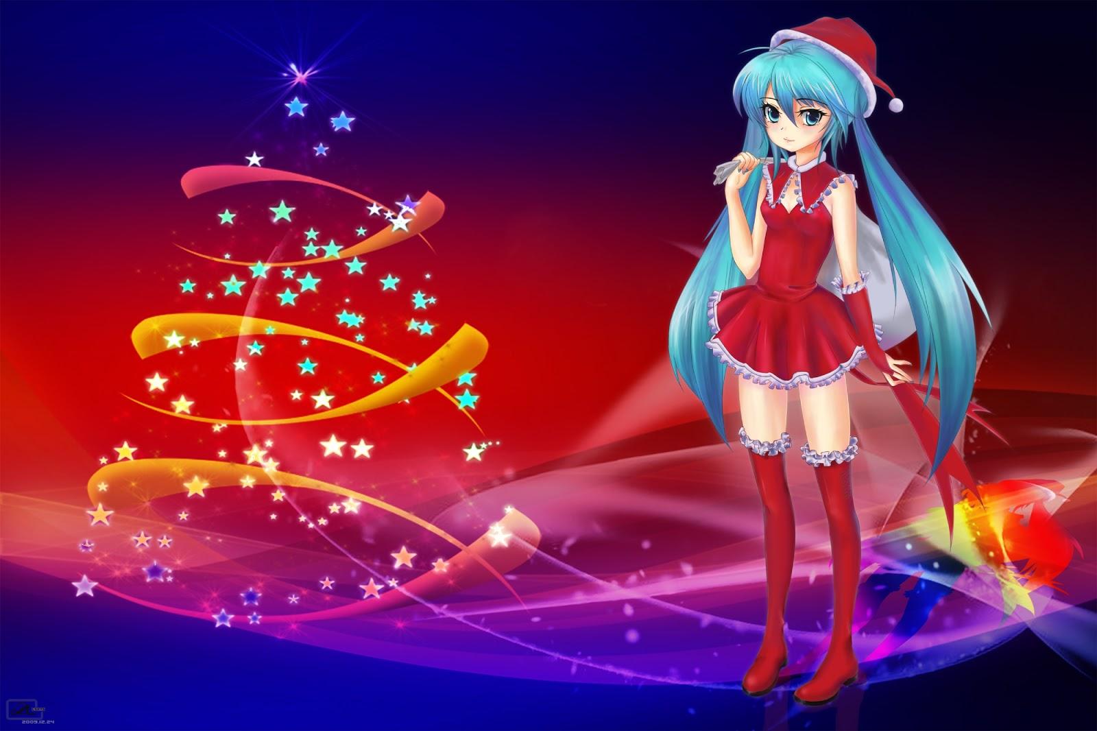 Fondo de pantallas | Fiesta de navidad anime v3