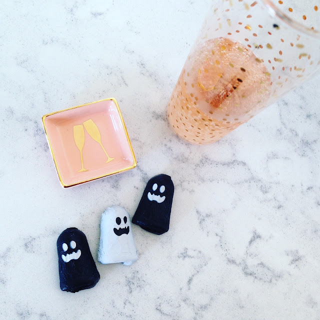 champagne and chocolate ghosts - hospitality at Studio Fitzroy in Toronto