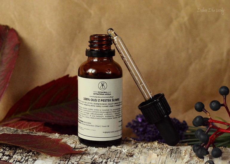 Bydgoska Wytwórnia Mydła Olej z pestek śliwki kosmetyki naturalne recenzja