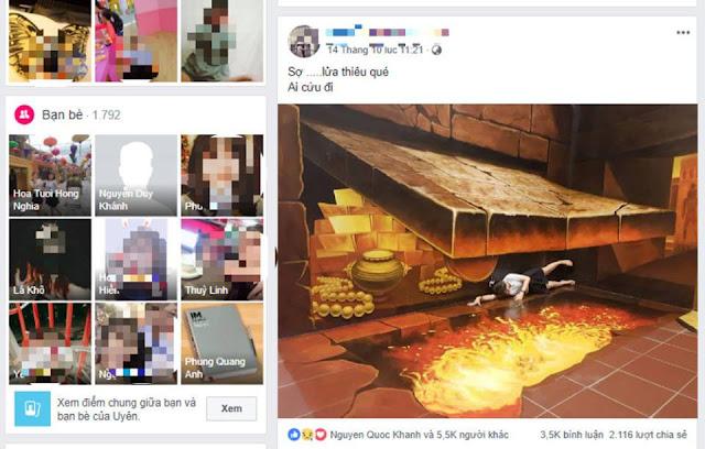 Facebook nạn nhân P.U đăng những dòng trạng thái thể hiện sự bất an, lo sợ