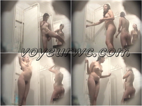 Sexy hidden cam video in the women's public shower room (Hidden Shower 331-360)