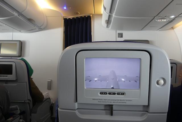 A380-800 der Lufthansa - Sitzplatz in der Economy Class