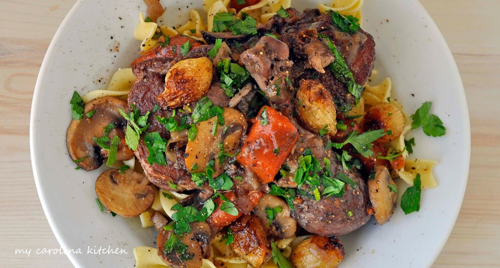 892d1bf78c1c94 It s true when Ina says that coq au vin is just really beef bourguignon  with chicken. The two recipes are almost identical
