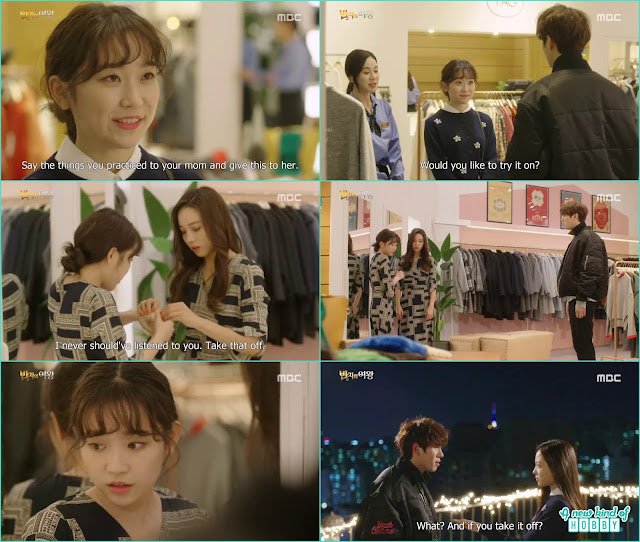 mi joo apear at the same boutique where nan hee checking an outfit she remove the magical ring from nan hee's finger - Queen of the Ring: Episode 3 Review (Three Color Fantasy)