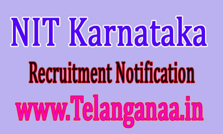 NIT Karnataka Recruitment Notification