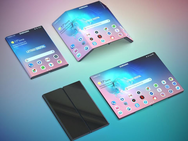 Concept images of new Samsung Note 10 folding smartphones