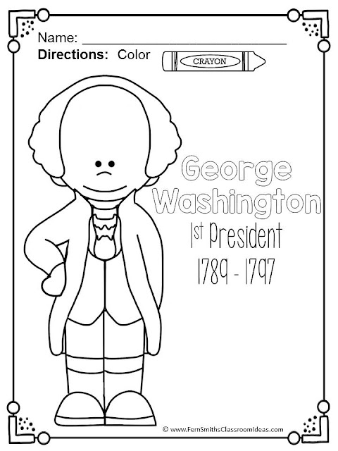 Coloring Pages for Presidents' Day with George and Abe! These Coloring Pages for Presidents' Day with George Washington and Abraham Lincoln and their families! This Presidents' Day Coloring Book is perfect for when you are teaching:  * George Washington  * Abraham Lincoln  * Presidents' Day  * Money - Dollar Bill, Five Dollar Bill and the Penny