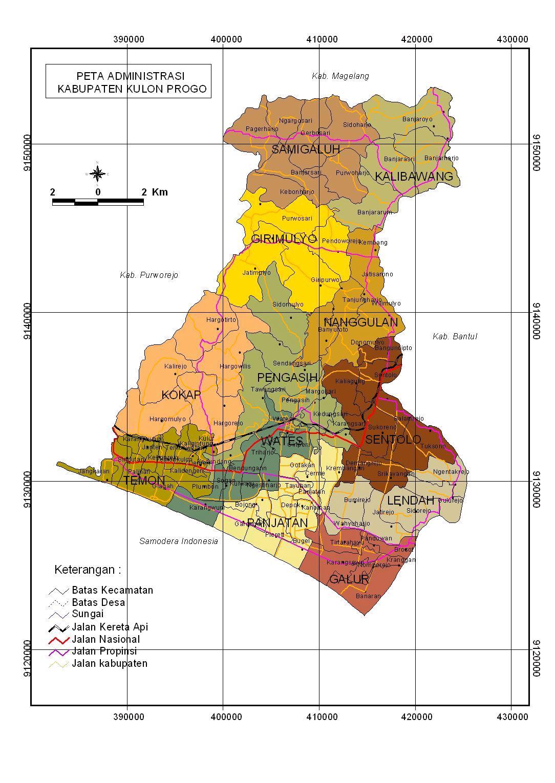 Peta Kota: Peta Kabupaten Kulonprogo
