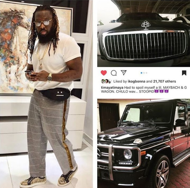 Days after getting a Range Rover for his baby mama, Timaya buys himself a Maybach & G Wagon