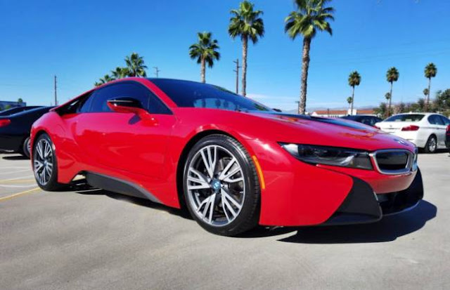 BMW i8 Protonic Red Edition First  Arrives and Shows Up At Local Dealership