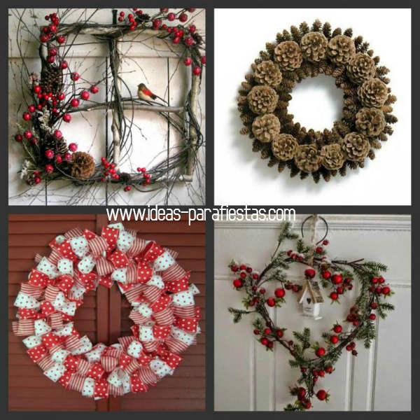 40 coronas de navidad para tu hogar diy reciclado mi for Puertas de material reciclado