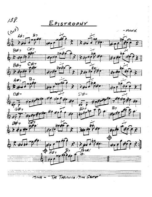 Partitura Saxofón Thelonious Monk