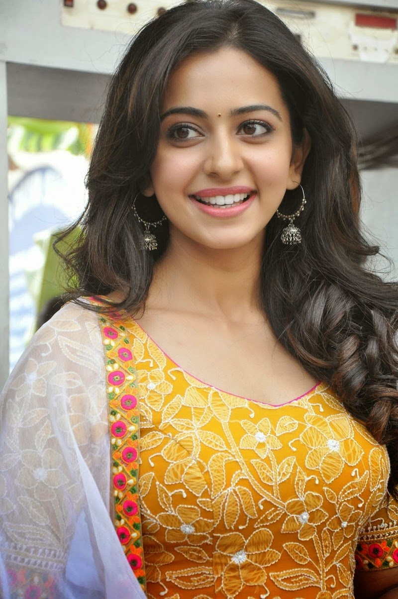 Rakul Preet Singh Photos In Yellow At Movie Launch