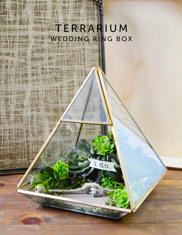terrarium wedding ring box crafts unleashed