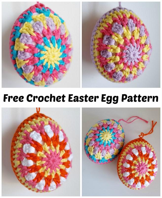 Dinki Dots Craft Multi Coloured Crochet Easter Eggs Pattern