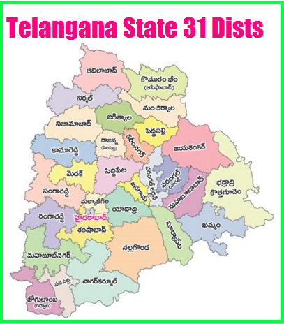 Telangana New 31 Districts List- New Manadals, Villages list