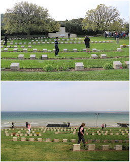 Anzac and Suvla cementaries are located along the coast road of the Eceabat and Bigali road at Gallipoli, Turkey