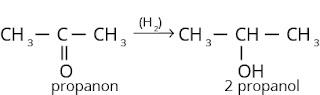 Reaksi reduksi keton menghasilkan alkohol sekunder