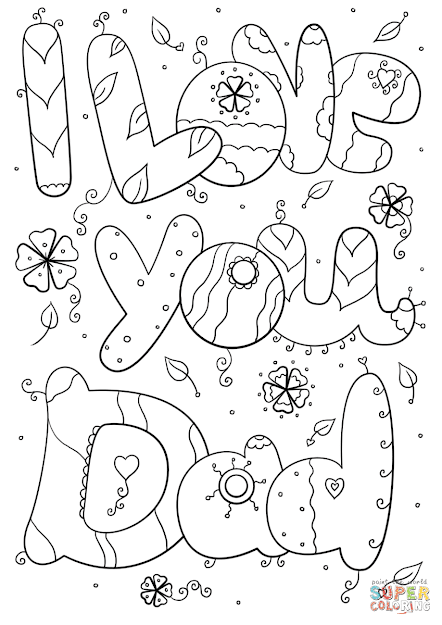 Click The Love You Dad Coloring Pages