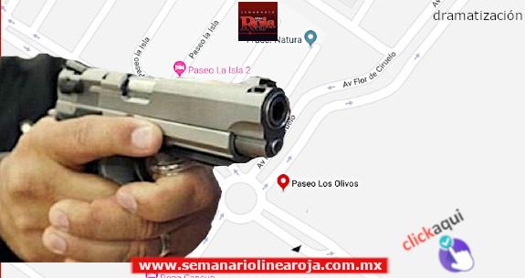Roban violentamente una camioneta en Paseo de Los Olivos de Playa del Carmen