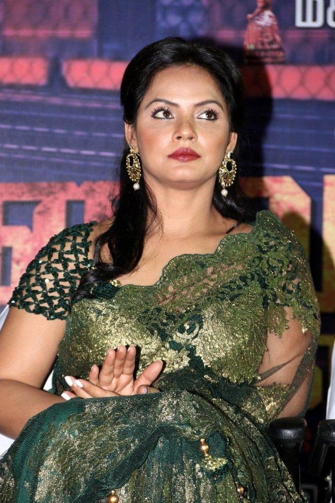 Hindi Actress Neetu Chandra Hot Green Saree Photos