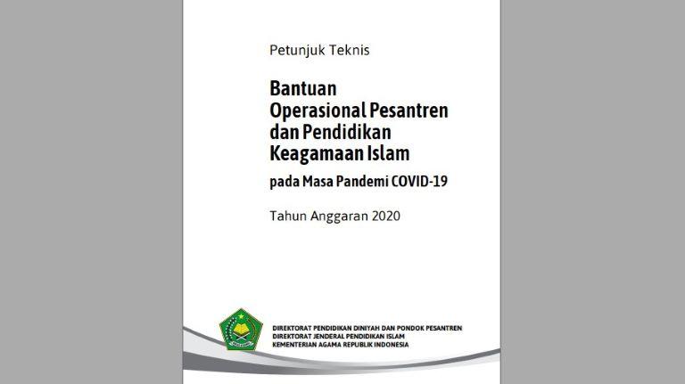 Petunjuk Teknis BOP Pesantren Di Masa Pandemi Covid-19